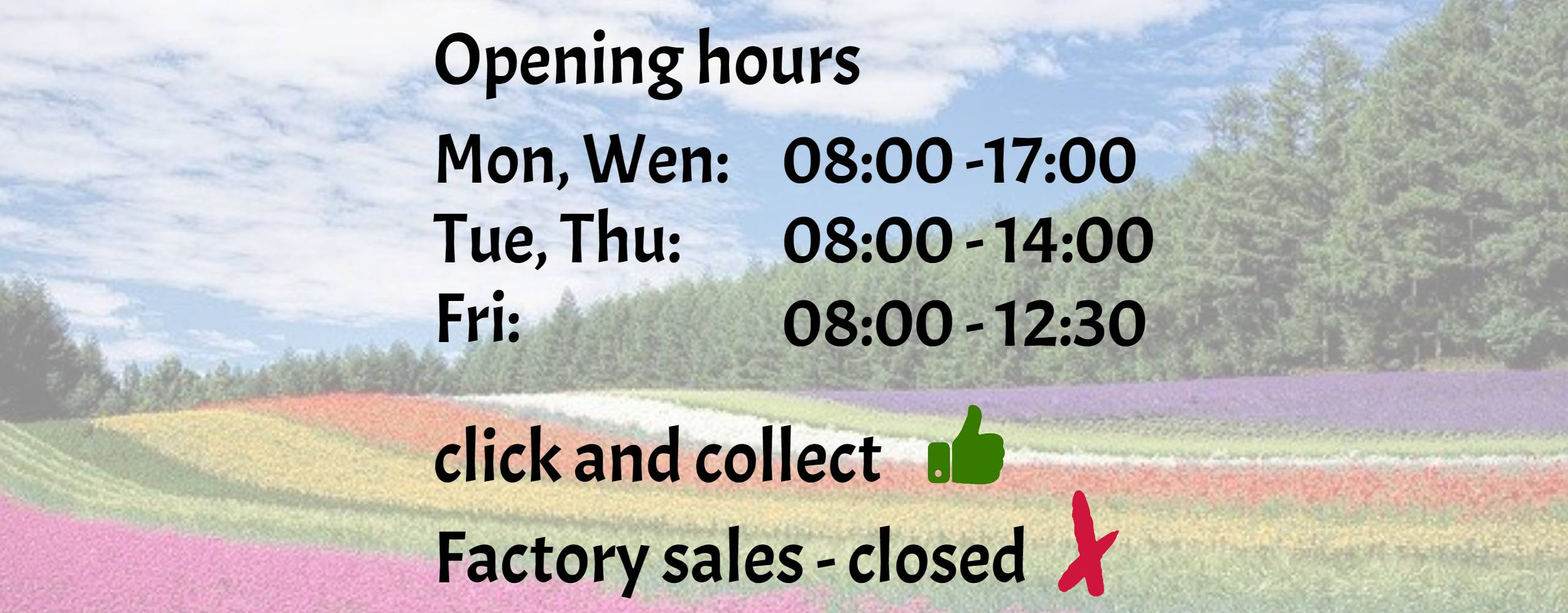 Opening hours and directions